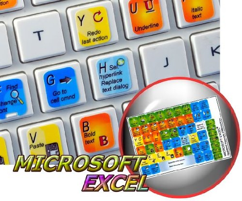 New EXCEL Sticker for Keyboard is Compatible with Microsoft (Best Windows Programming Laptop)