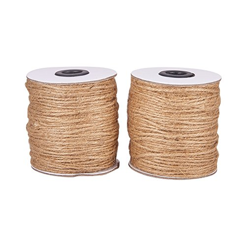 Ply Hemp 3 (Pandahall (2 Rolls x 300 Feet) Natural Jute Twine 6-Ply Jute String Rope 2mm Hemp Rope Jute Cord for DIY and Crafts, Gift Wrapping)
