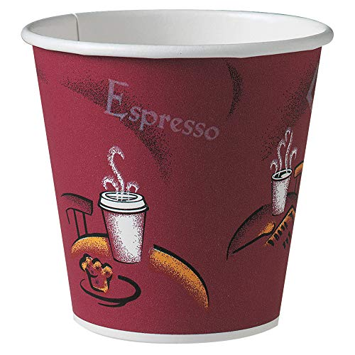 Solo 410SI-0041 10 oz Bistro SSP Paper Hot Cup (Case of 1000)