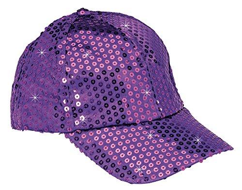 The Paragon Baseball Cap For Women - Gold Sequin Hat, Adjustable Strap Ball Cap (Purple)