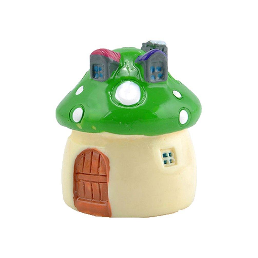bismarckbeer Miniature Fairy Garden Mushroom House Ornament Dollhouse Plant Pot DIY Decoration