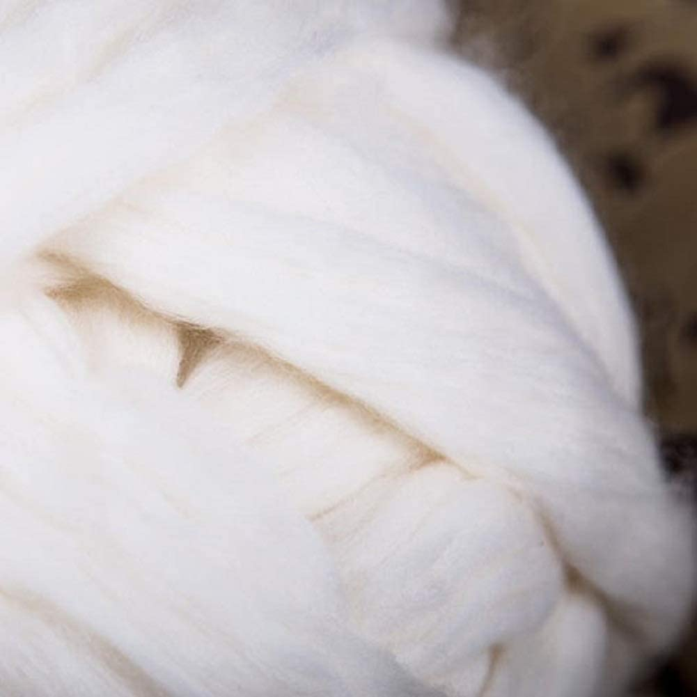 DIRUNEN Merino Wool Yarn Big Chunky Yarn Super Wool Roving Extreme Arm Knitting Giant Chunky Knit Blankets Throws Gray 6.6 lbs