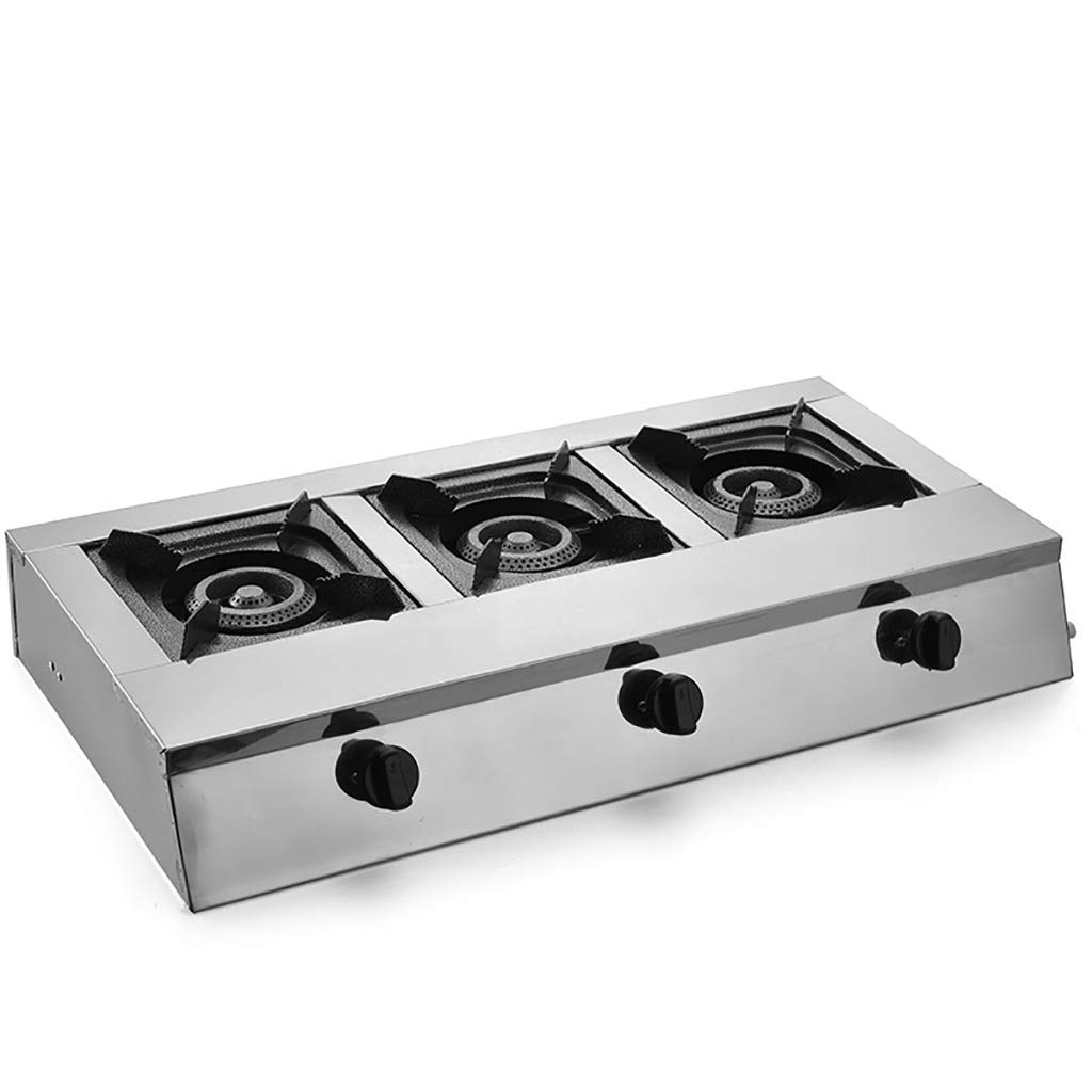 LQ-Stoves Natural Gas Cooktops,Stainless Steel Kitchen Hotel Outdoor, Restaurant, Home Embedded Rectangles Multiple Models Burner Cooker Multi-Function Stove (Size : 693510cm) by LQ-Stoves