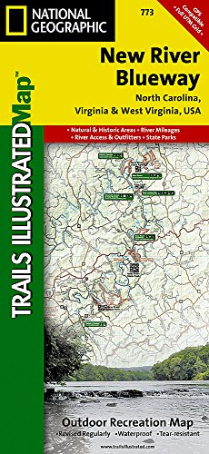 New River Blueway (National Geographic Trails Illustrated Map) (West Virginia Trail Map)