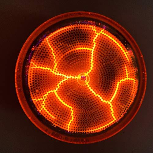 "Vannamore HV Plasma Disk 2.5"" Nixie neon Gas with Fluorescent Paint Equalizer (Orange)"