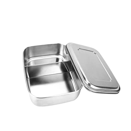 3090d558c01e Buy BESTONZON ONZON Stainless Steel Food Container Square Lunch Box ...