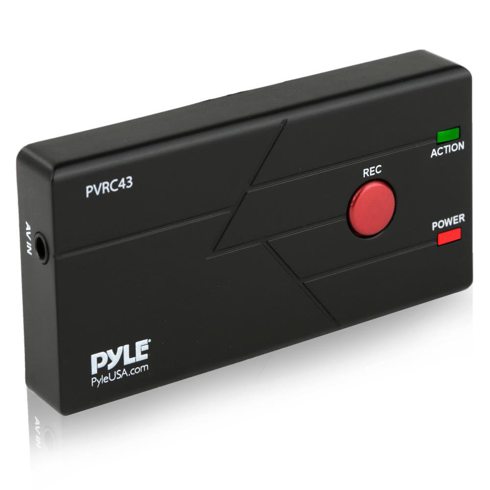 Upgraded VHS Tapes to Digital Recorder, VCR DVD Game Video TV Audio Record to SD Card & Computer, Best transferring video Device | Convert  VHS Tapes Camcorder Tapes To Digital Video (PVRC43) By Pyle
