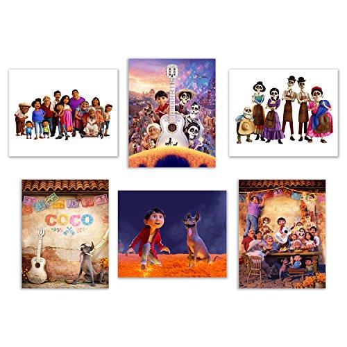Coco  8x10 Poster Prints - Set of 6 Pixar Mexican Dia de Mue