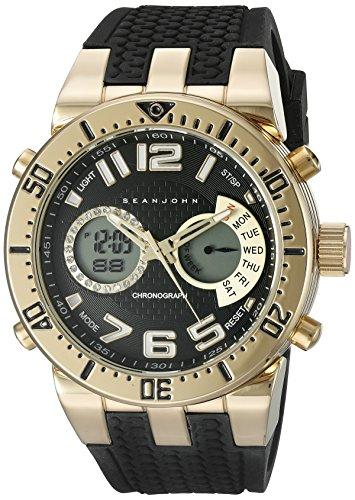(Sean John Men's 10027464 Sport Analog-Digital Display Analog Quartz Black Watch)