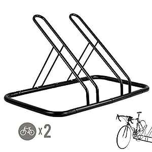 Amazon Com Cyclingdeal 2 Bike Bicycle Floor Parking Rack Storage Stand Indoor Bike