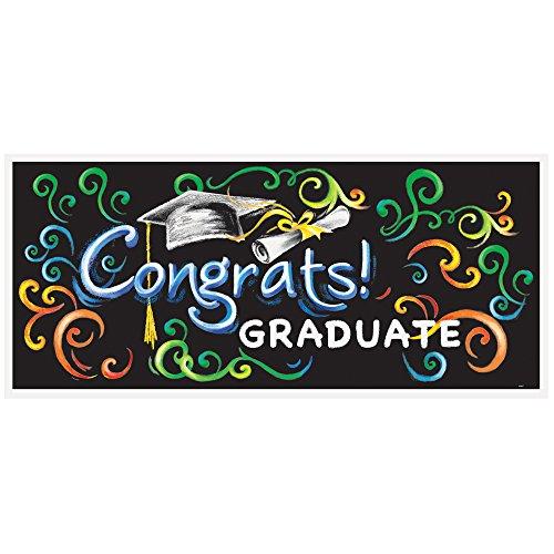 Chalkboard Graduation Wall Banner & Photo Prop, 60