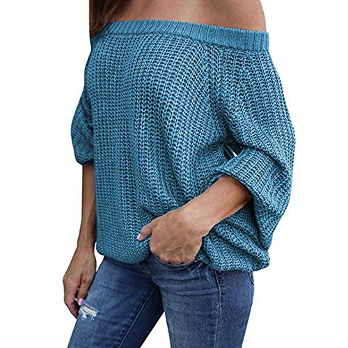 Maglietta Maniche Tondo Felpa Donna Da Pullover Camicetta A Top Sweater Lungo Lanterna Blu Con Oudan Donna Scollo Lunghe awqOAzFq