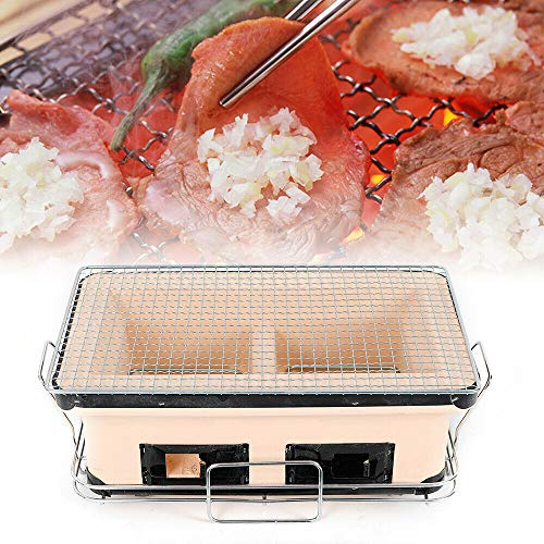 VPABES 40cm Japanese Ceramic Hibachi BBQ Table Grill Portable Yakitori Barbecue Charcoal Grill