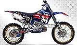 Kungfu Graphics Muscle Milk Custom Decal Kit for Yamaha YZ125 YZ250 1996 1997 1998 1999 2000 2001, Black White Red