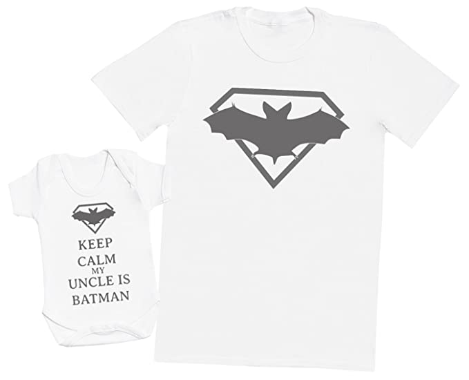 2969e89050513 Amazon.com: Keep Calm My Uncle is Batman - Matching Father Baby Gift ...