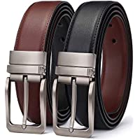 TERSE Mens Reversible Belt For Men Dress of One-Piece Grain Leather 1 3/4, Cut to fit