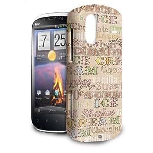 Phone Case For HTC Amaze 4G - 50s Soda Shop Icecream Glossy Back