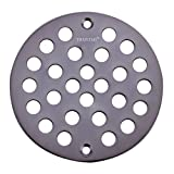 TRUSTMI 4 Inch Screw-in Shower Drain Cover Replacement Floor Strainer, Oil Rubbed Bronze