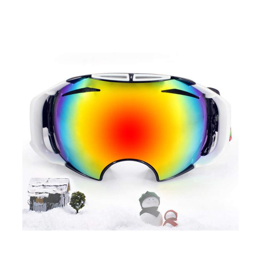 He-yanjing Ski Goggles, Snowboarding Goggle Anti-Fog UV Protection, Ski Goggles for Men and Women, Winter Adult ski Equipment (Color : Gray) by He-yanjing