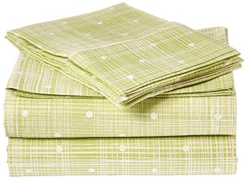 Home Collection Merit Linens 4-piece Premium Polka Dot Pattern Bed Sheet Set