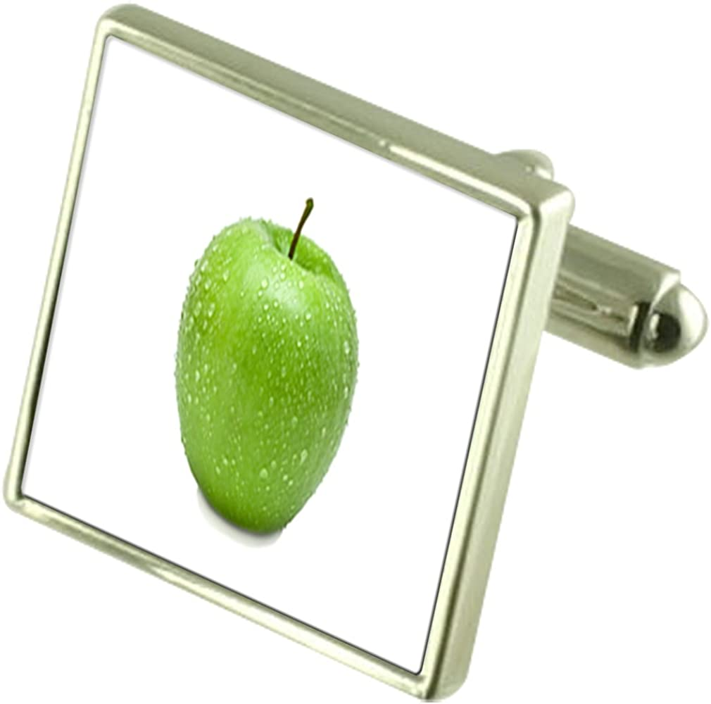 Select Gifts Fruit Green Apple Engraved Keepsake Message Box