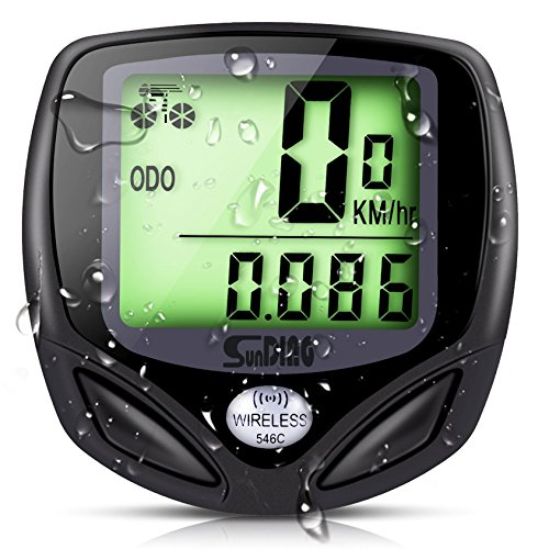 SD 546C Bicycle Speedometer Bike Wireless Waterproof Odometer Cycle Computer with Digital LCD Display & Multi-Function with Backlight GOSTAR