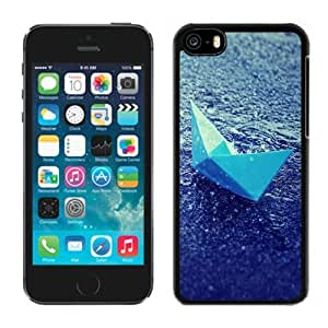New Personalized Custom Designed For iPhone 5C Phone Case For Blue Paper Boat In The Rain Phone Case Cover