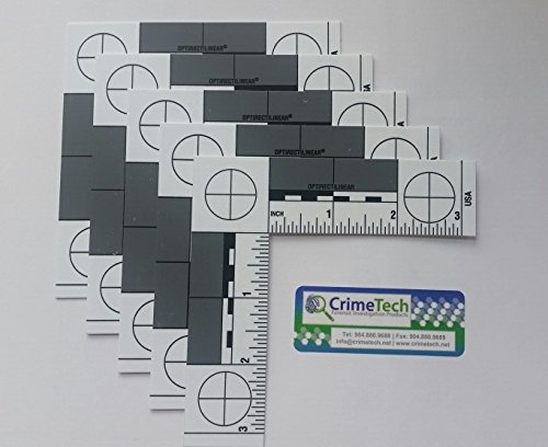 Forensic ABFO No. 2 Photo Scales, Fractional/Inches, Pack of 5 EA by CrimeTech, Inc.