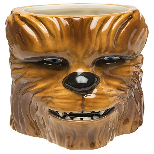 Zak Designs STAB-8515-B Coffee Mugs, Sculpted, Star Wars Ep4 Chewbacca