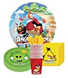 Angry Birds Party Supplies Pack for 16 Guests Includes Plates, Cups, Napkins and Metallic Foil Balloon by Pinatas