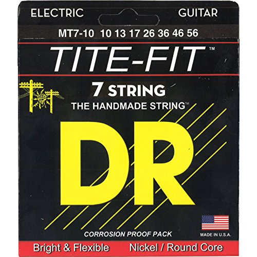 (DR Strings Tite Fit Electric Round Core 7 String 10-56)