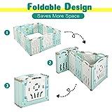Albott Baby Fence 18 Panels Kids Playpen- Foldable
