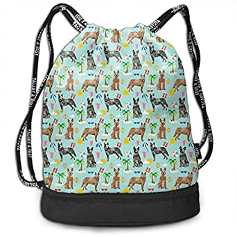 Amazon.com: Unisex Drawstring Backpack Australian Cattle