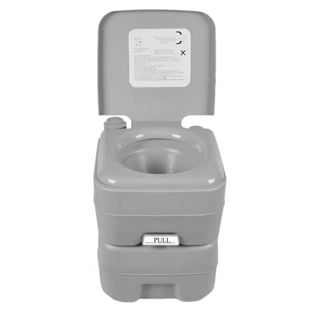LIU UK Portable Toilet Tragbare Camping WC Wohnwagen Wohnmobil Loo Caravan Flush Reise Indoor Outdoor Wandern Stiefelfahren TöPfchen Kommode 20L Abnehmbare Toilette