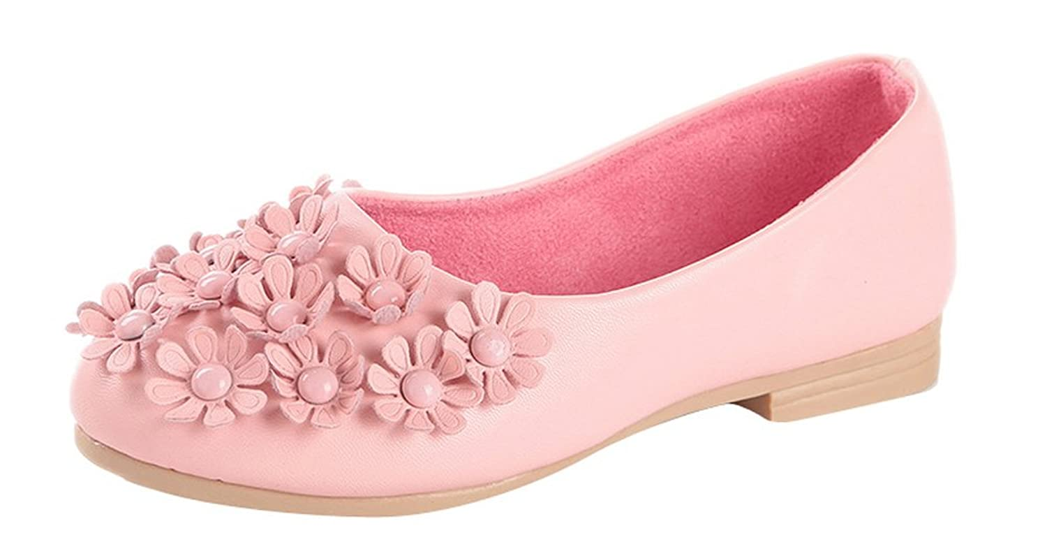 Toddler//Little Kid//Big Kid GESELLIE Girls New Casual Flower Embellished Ballerina Flats