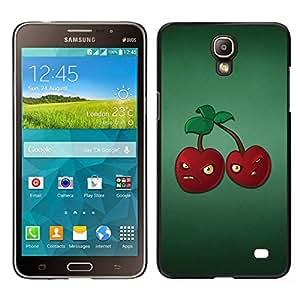 Caucho caso de Shell duro de la cubierta de accesorios de protección BY RAYDREAMMM - Samsung Galaxy Mega 2 - El mal de la cereza