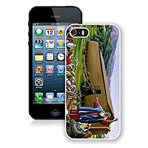 Classic Iphone 5s Case Noah's Ark Oil Painting Soft TPU White Phone Cover for Iphone 5