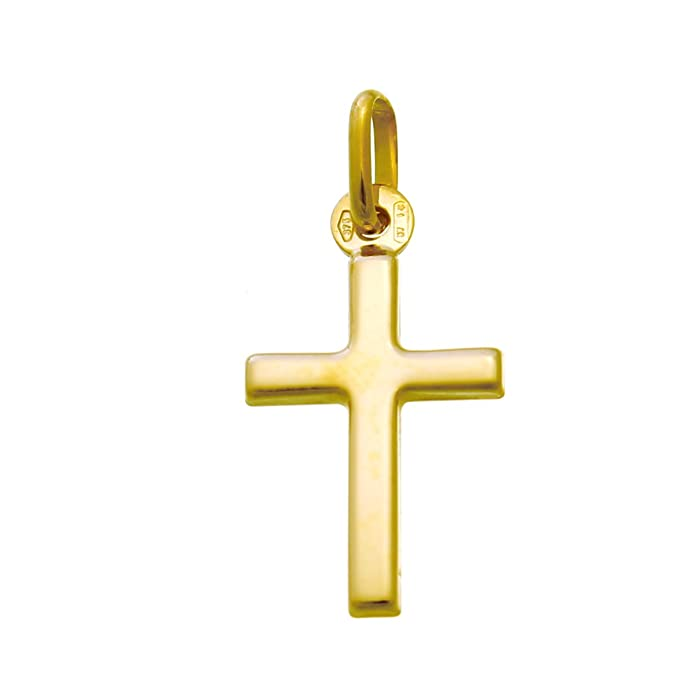 Small 9ct Gold Cross Pendant Necklace With Gift Box: Amazon.co.uk: Jewellery