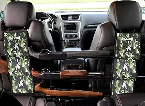 - LOVIT Car Concealed Seat Back Gun Rack,Hunting Gear Seat Back Gun Sling Holder Universal Shooting Accessories, Fit for Vehicles (Army Camo)