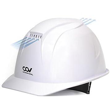 [KEM] - Casco de seguridad con ventilación forzada, ventilador de refrigeración para sombrero duro, color blanco: Amazon.es: Bricolaje y herramientas