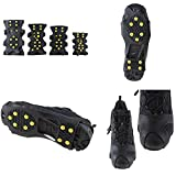 IMAGE Non-slip Over Shoe Snow & Ice Cleats Grips...
