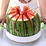 Watermelon Slicer 15'' Large Stainless Steel Fruit Melon Slicer Cutter Peeler Corer Server for Home