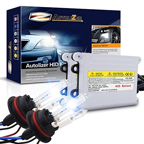 Autolizer 55W HID Xenon Headlight Conversion Kit [9007 9004 HB5 - 10000K Deep Blue] (Hi Lo) Halogen (55w Xenon Headlights 9007)
