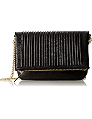 Bcbg Black Fold Clutch Osfa