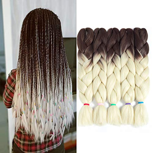 5pcs Lot 24 Quot Ombre Kanekalon Synthetic Jumbo Braid Twist