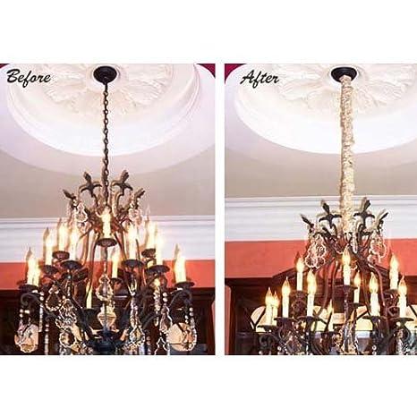 Cord coverup silk cord covers lamp style colorsilver amazon aloadofball Gallery