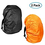 Waterproof Backpack Rain Cover(2-Pack), KIKAL Lightweight Durable Elastic Adjustable Rucksack Water Resist Cover for Camping,Hiking,Climbing,Cycling and Other Outdoor Activities