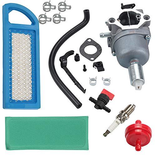 - Butom LA125 Carburetor for John Deere LA115 LA105 D110 Lawn Riding Mower Briggs & Stratton intek MIA12509 MIA11474 GY20573 w/Air Fuel Filter Spark Plug