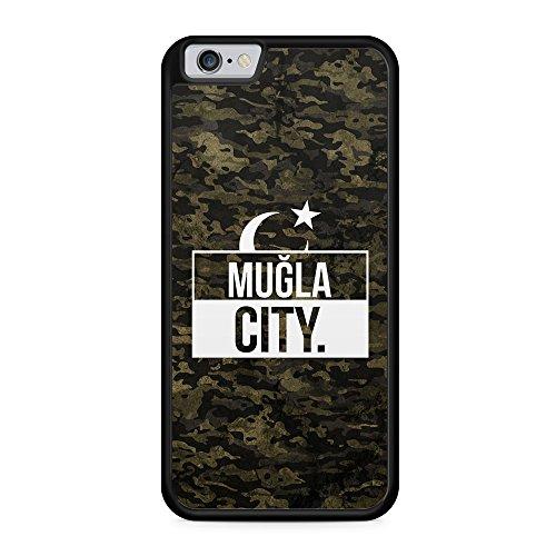 Mugla City Camouflage - Hülle für iPhone 6 & 6s SILIKON Handyhülle Case Cover Schutzhülle Hardcase - Türkische Türkce Turkish Türkei Türkiye Turkey Türk Asker Militär Military Design