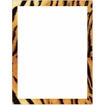Amazon.com : Full Leopard Print with Border Stationery ...  Leopard